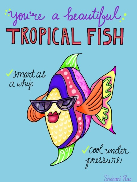 tropical fish signed